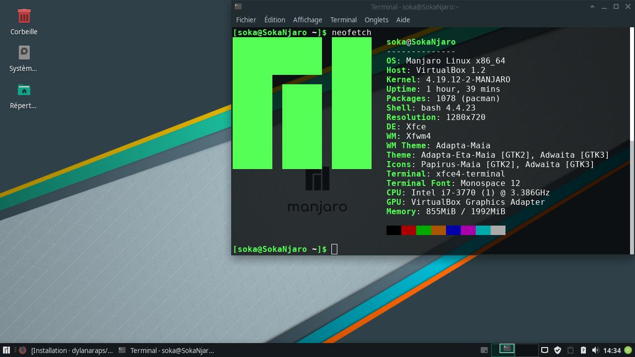Utilitaires Linux : Afficher les Informations Système avec NeoFetch sur ManJaro