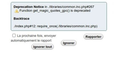 PHPMyAdmin Deprecation Notice Function get_magic_quotes_gpc() is deprecated