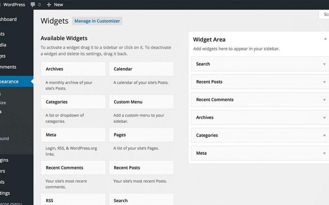 Les Widgets de WordPress